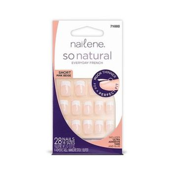 Nailene So Natural Artificial Nails, So Natural Medium Sheer Nails