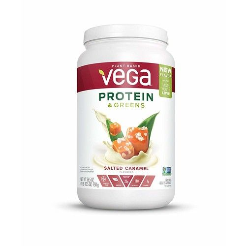 Vega Protein & Greens Plant Protein Shake, Salted Caramel, 26.5 Ounce [Salted Caramel]