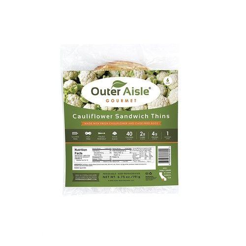 Outer Aisle, Cauliflower Sandwich Thins, 6.75 Oz