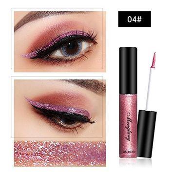 AliveGOT Colorful Glitter Liquid Eyeliner Eyeliner Eyebrow Lip Liner Long Lasting Waterproof Sparkling Eyeliner Eye Shadow Cosmetic Kit Tool