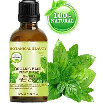 Botanical Beauty Organic Basil Essential Oil, 0.17 fl oz (5 ml)