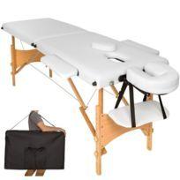 Table de massage blanc 2 zones avec sac de transport 2008050