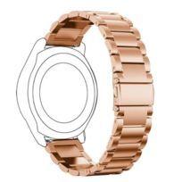 Bracelet en métal 22mm trois perles avec boucle déployante or rose pour votre Huawei Watch Gt/Honor Watch Magic