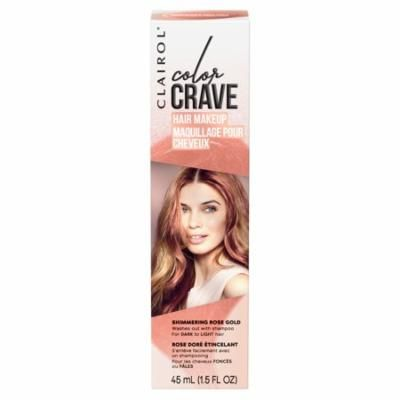Clairol Color Crave Temporary Hair Makeup, Shimmering Rose Gold
