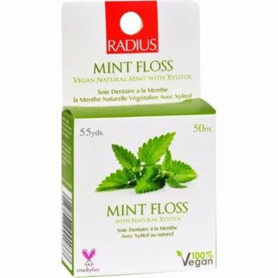 Radius Mint Floss With Natural Xylitol - 55 Yards - Pack of 6