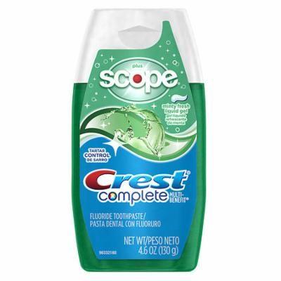 Crest Complete Multi-Benefit + Scope Liquid Gel Toothpaste Minty Fresh