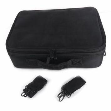 Ktaxon Professional High-capacity Multilayer Portable Travel Makeup Bag with Shoulder Strap (S / L)