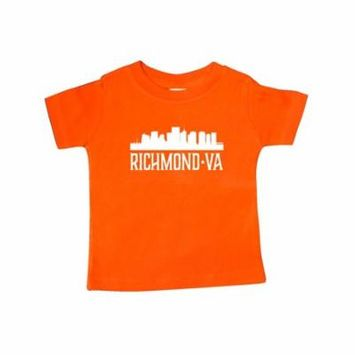 Richmond Virginia Skyline city silhouette Baby T-Shirt