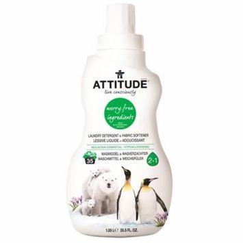 ATTITUDE, Laundry Detergent & Fabric Softener, Mountain Essential, 35.5 fl oz (pack of 6)