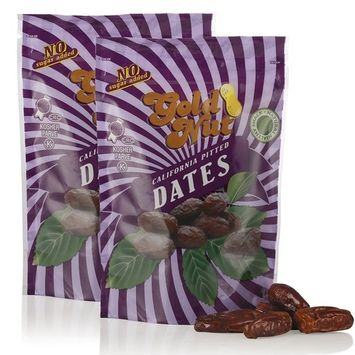 California Pitted Dates - No Sugar Added, Fat Free, All Natural Snack - Resalable Bag - 8oz - Kosher Dried Fruit by Gold Nut