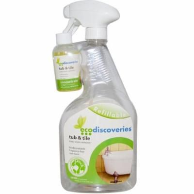 EcoDiscoveries, Tub & Tile, Soap Scum Remover, 2 fl oz (60 ml) Concentrate w/ 1 Spray Bottle(pack of 3)