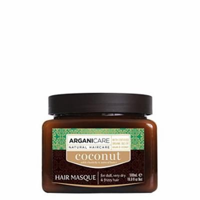 Arganicare Hydrating Coconut Hair Masque with Certified Oils of Argan and Coconut for dull, very dry and frizzy hair 16.9 fl. Oz.