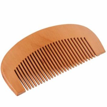 Wooden Natural Wide Tooth Wood Comb Peach Wood no-static Massage Hair Health Comb