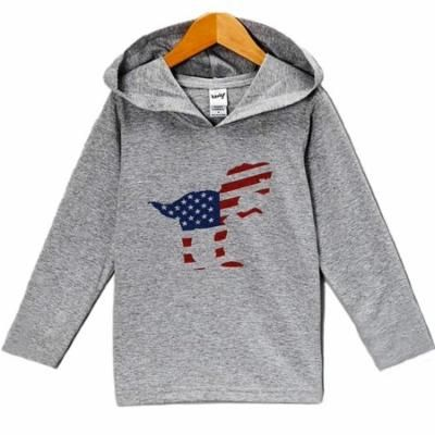 Custom Party Shop Kid's Dinosaur 4th of July Hoodie Pullover - 3T