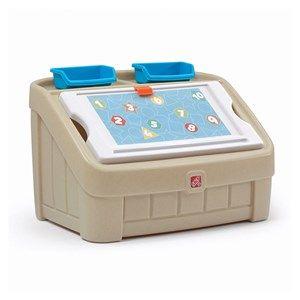 2-in-1 Toy Box & Art Lid™ - Tan