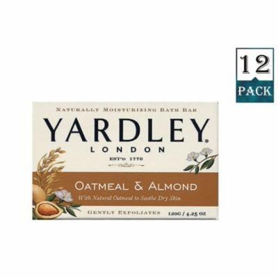 Yardley London Soap Bath Bar Oatmeal & Almond 4.25 Ounces /120 G (Pack Of 12)