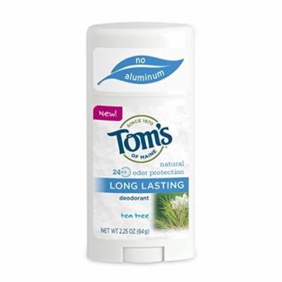 Tom's of Maine Natural Long Lasting Natural Deodorant Tea Tree 2.25 oz.(pack of 2)