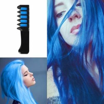 blue Mini Disposable Personal Salon Use Hair Dye Comb Hair Color Chalk Tool