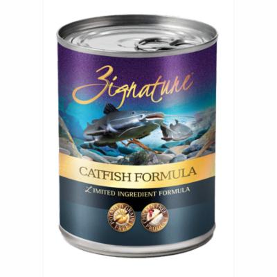 Zignature Catfish Formula Dog Food 12/13oz Cans