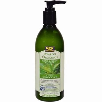 Avalon Organics Hand And Body Lotion Aloe Unscented - 12 Fl Oz