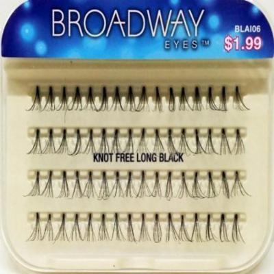 Broadway Eyes Individual Eyelashes - KNOT FREE LONG BLACK BLAI06 (2 Packs)