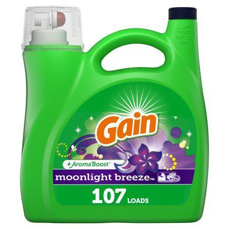 Gain Moonlight Breeze, 107 Loads Liquid Laundry Detergent, 165 Fl oz