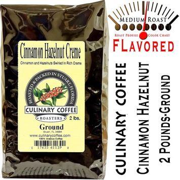 Culinary Coffee Roasters-Cinnamon Hazlenut, Flavored Ground Coffee, 2-pound Bag Amazon Special!