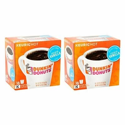 Keurig Hot Dunkin' Donuts French Vanilla K-Cup Pods Coffee, 0.37 oz, 16 count - 2 Pack