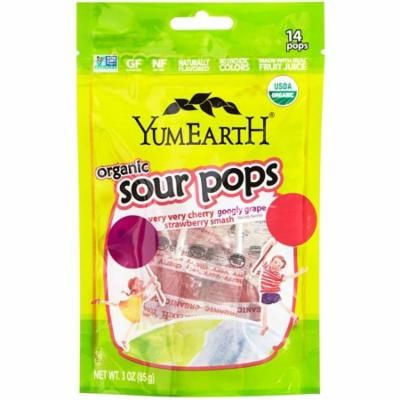 YumEarth, Organics, Sour Pops, Assorted Flavors, 14 Pops, 3 oz (pack of 12)