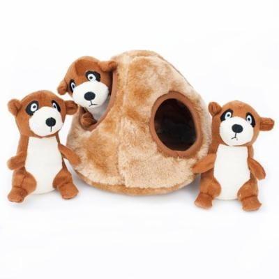 Small Dog Toy, Zippypaws Meerkat Den Tough Squeaky Puppy Breed Dog Chew Toys