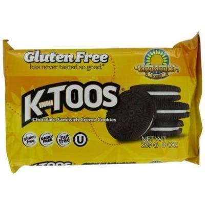Kinnikinnick KinniToos Chocolate Sandwich Creme, Gluten Free, 8 Oz (Pack of 6)