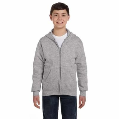 P480 ComfortBlend Youth Full-Zip Hoodie - Light Steel - Small