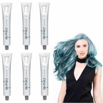 SPARKS Long Lasting Bright Permanent Hair Color Denim Blue HC-00747 (6 Pack)