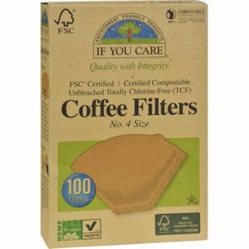 If You Care #4 Cone Coffee Filters - Brown - Pack of 12 - 100 Count