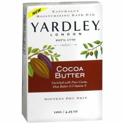 Yardley of London Naturally Moisturizing Bath Bar, Cocoa Butter 4.25 oz(pack of 4)