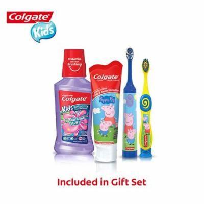 Colgate Kids Toothbrush, Toothpaste, Mouthwash Gift Set - Peppa Pig