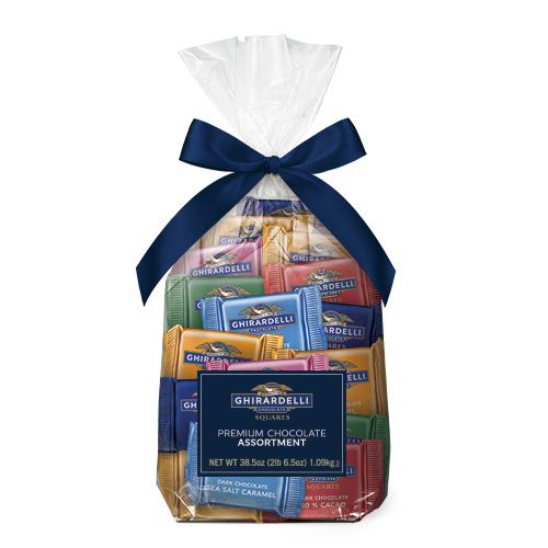 Ghirardelli Assorted Chocolate SQUARES Gift Bag, 80 pc