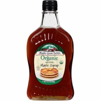 Maple Grove Farms Organic 100% Pure Maple Syrup 12.5 fl. Oz (Pack of 12)