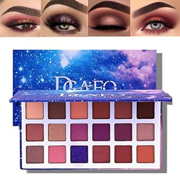 Eyeshadow Palette, 18 Colors Matte Eyeshadow Palette Glitter Eyeshadow Combination Smoky with Shimmer Eyeshadow Starry Sky Makeup Palette Cosmetics