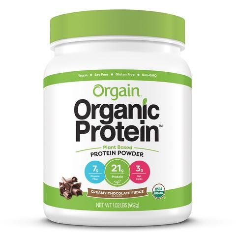 Orgain Creamy Chocolate Fudge Plant Based Protein Powder / 1.02lb Canister