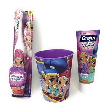 Shimmer & Shine Spin Brush Cup And Toothpaste