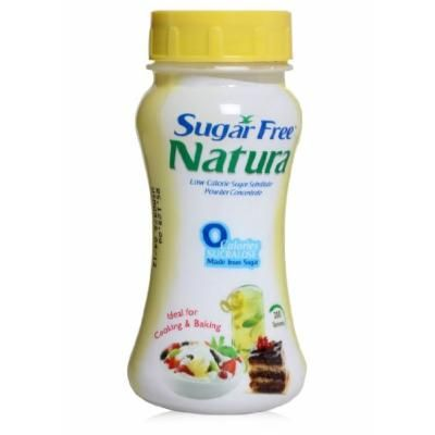 SUGAR FREE NATURA Powder Zero Calories Sucralose Cooking Baking - 100g Bottle x 2