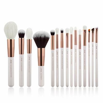 Pearl White/Rose Gold Professional Makeup Brushes Set Make up Brush Tools kit Foundation Powder natural-synthetic hair