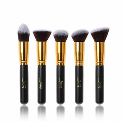 5pcs Black/Gold Makeup Brushes Sets Beauty kits Kabuki Foundation Powder Blush Make up Brush Cosmetics Tool