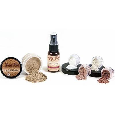 STARTER SET w/SETTING SPRAY MIST (FAIR 2) Mineral Makeup Kit Bare Face Matte Sheer Foundation Cover