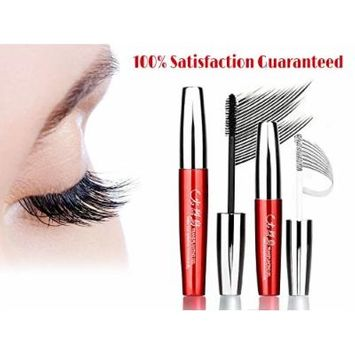Flamingo 3D Fiber Lash Mascara Smudge Resistant 300% Fuller & Thicker & Longer 12h Long Lasting Easy Remove Highest Quality Natural & Non-Toxic Hypoallergenic Ingredients