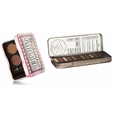 W7 Holiday Kit: Colour Me Buff Natural Nudes Eye Colour Palette Tin, 12 Eye Shadows + Brow Parlour The Complete Eyebrow Grooming Kit + FREE Makeup Blender Sponge
