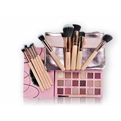"""Beauty Creations Ballerina Rose Gold 11pc Brush And """"Tease Me"""" Eyeshadow Palette Set"""