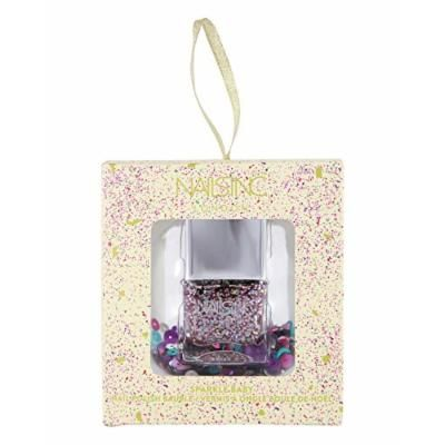 NAILS INC. Sparkle Baby Bauble holographic glitter nail polish Color: On The Naughty List