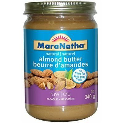 Maranatha Natural Foods, Almond Butter, No Salt/No Sugar, Pack of 6, Size - 12 OZ, Quantity - 1 Case